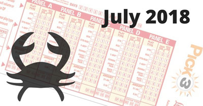 Astrological Lucky Pick 3 and Pick 4 Numbers For July 2018