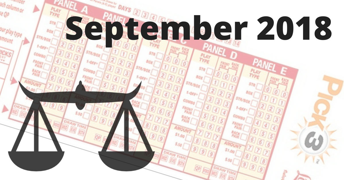 Astrological Lucky Pick 3 and Pick 4 Numbers For September 2018