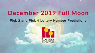 December 2019 Full Moon Lottery Numbers