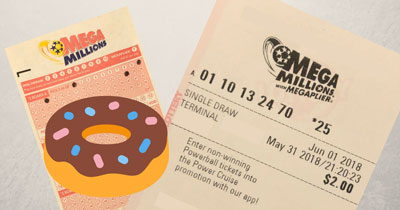 MegaMillions Lottery Draw Numbers for National Doughnut Day