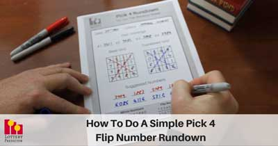 How To Do A Simple Pick 4 Flip Number Rundown