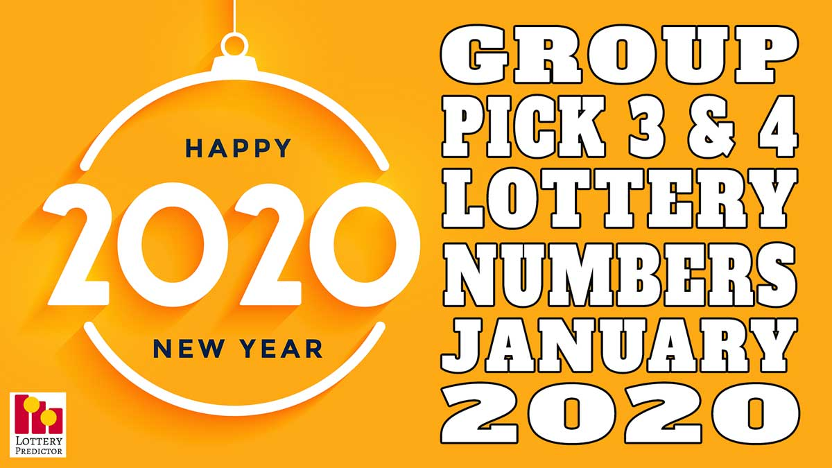January 2020 Pick 3 & Pick 4 Lottery Group Numbers