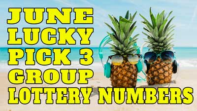 June 2019 Pick 3 Lottery Group Numbers