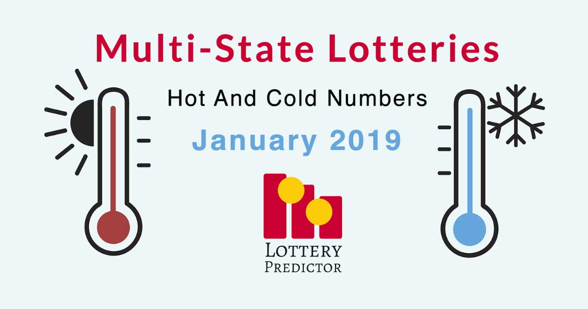 Multi-State Lottery Hot And Cold Numbers For January 2019