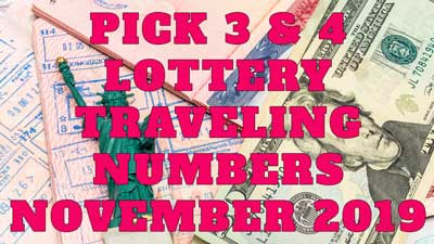Hot Traveling Lottery Numbers November 2019