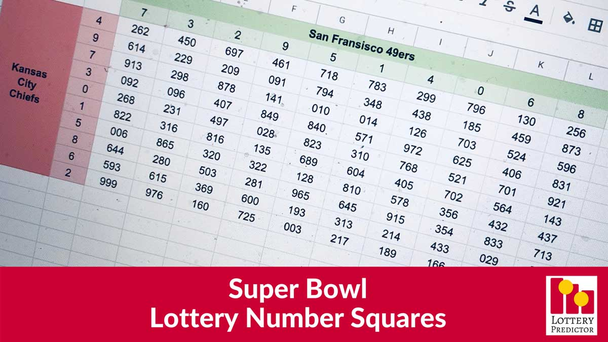 Super Bowl Lottery Number Squares